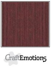 CraftEmotions linnenkarton mahoniebruin 30,5x30,5cm