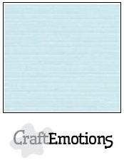 CraftEmotions linnenkarton babyblauw 30,5x30,5cm
