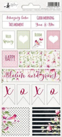 Piatek13 - Sticker sheet Hello Beautiful 02 P13-209 10,5x23 cm