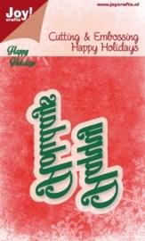 Cutting stencil - Happy Holidays