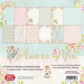 Craft&You Amore Mio Big Paper Set 12x12 12 vel