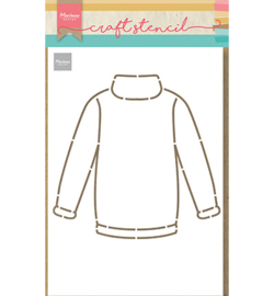 Marianne D  - PS8076 - Craft Stencil - Craft stencil Sweater