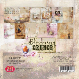 Craft&You Blooming Grunge Small Paper Pad 6x6 36 vel CPB-BG15