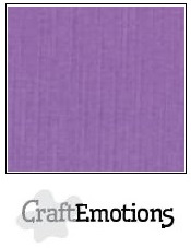 CraftEmotions linnenkarton - paars LHC-24 A4 250gr