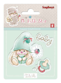 ScrapBerry's Bunny My Little Star - Set of stamps (7*7cm) - Baby Bunny
