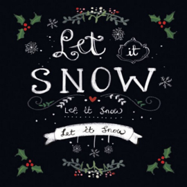 CraftEmotions servetten 5st - Let it snow 33x33cm Ambiente