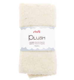 240016-04 - Plush, lamsvel beige, 100% polyester