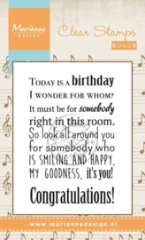 Marianne D Stempel Song Today is a birthday (EN) CS0965