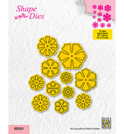Nellie`s Choice - SD221 - Set of Small Flowers
