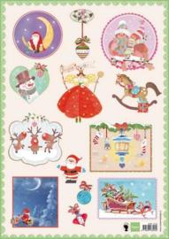 Marianne D 3D Decoupage sheet Jingle bells 2 A4 EWK1216