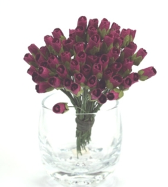 Tiny Rose Buds - Burgundy