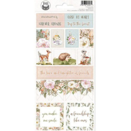 Piatek13 - Sticker sheet Forest tea party 02 P13-FOR-12 10,5x23cm