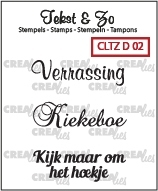 Crealies Clearstamp Tekst&Zo Divers 2 (NL) CLTZD02