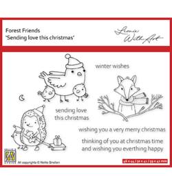 Nellie`s Choice - FFECS004 - Set 4: Sending love this Christmas