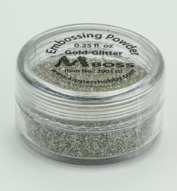 Embossing powder - Gold-Glitter(Special Silver)