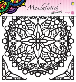 Mandalistick Peel-off`s large 3 - Black