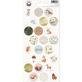 Piatek13 - Sticker sheet Forest tea party 03 P13-FOR-13 10,5x23cm