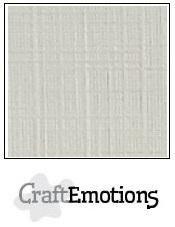 CraftEmotions linnenkarton pastel creme 27x13,5cm 250gr
