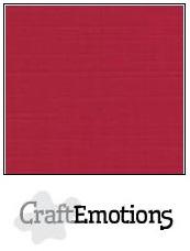 CraftEmotions linnenkarton - kerstrood LHC-07 A4 250gr