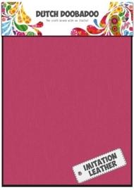 Dutch Doobadoo - Fabric Art A5 - Imitatie Leather Pink