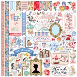 Carta Bella Practically Perfect 12x12 Inch Element Sticker