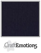 CraftEmotions linnenkarton - zwart LHC-58 A4 250gr