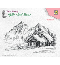 Nellie`s Choice IFS015 - Snowy landscape with cottage