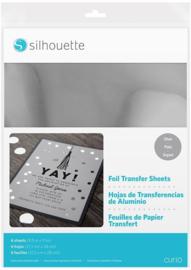 Silhouette Foil Transfer Sheets 21,5cm x 27,9cm Silver