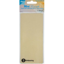 Joy!Crafts MINI-Trouvaille - B - Embossing plaat + mat