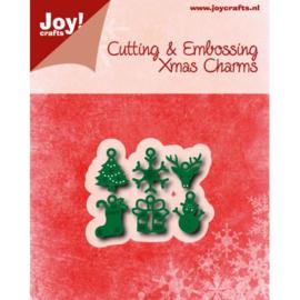 Snij-embosstencil - Kerstbedeltjes