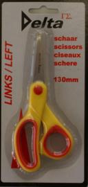 Reuser Linkshandige Soft-Grip kleuter-hobbyschaar 13cm SC-413LH