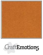 CraftEmotions linnenkarton koperbruin 30,5x30,5cm