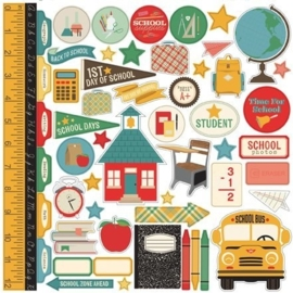 Echo Park Teacher's Pet 12x12 Inch Elements Sticker (TP90014)