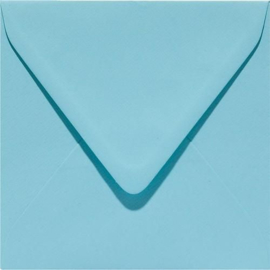Papicolor Envelop vierk. 14cm azuurblauw 105gr-CV 6 st 303904 - 140x140 mm