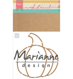 Marianne D PS8016 - Craft stencil: Pumpkin by Marleen