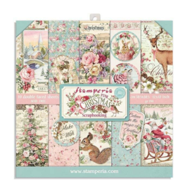 Stamperia Pink Christmas 8x8 Inch Paper Pack (SBBS16)