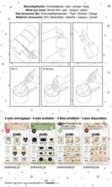 Studio Light - SHRINKSL25 - Sleeves, Handlettering nr.25