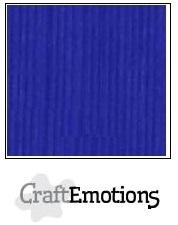 CraftEmotions linnenkarton kobaltblauw 30,5x30,5cm