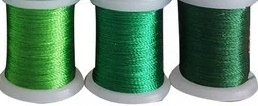 Avec Colour Threads - Metallic garen - 3x groen