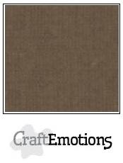 CraftEmotions linnenkarton sepiabruin 30,5x30,5cm