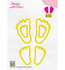 Nellie`s Choice SD166 - 3x Baby feet