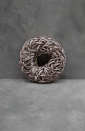Coco c slice wreath - 40 cm - White Wash
