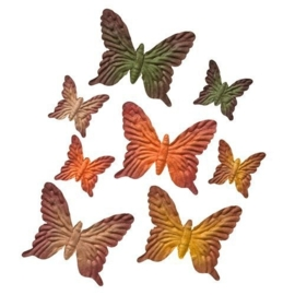 ScrapBerry's Set Of Butterflies 8 pcs Autumn Colors Golden Autumn (SCB300703)