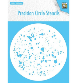 Nellie`s Choice MMPCS006 - Round stencil : dots