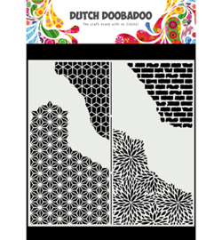 Dutch Doobadoo - 470.715.822 - Mask Art Slimline Cracked Patterns
