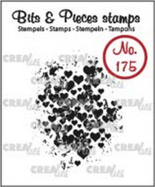 Crealies Clearstamp Bits & Pieces grunge hartjes CLBP175 32 x 43mm