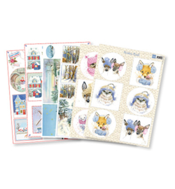 Marianne D Knipvel PA4077 - Decoupage set: Winter