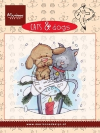 Marianne D Clear stamp Cats & dogs - candle light CD3503