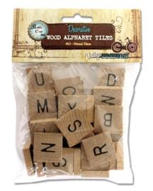 Bottle cap mixed media x40 alphabet tiles