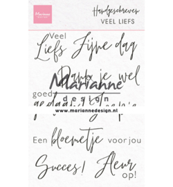 Marianne D Stempel - CS1050 - Handgeschreven - Veel liefs